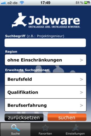 Jobware Stellenmarkt App